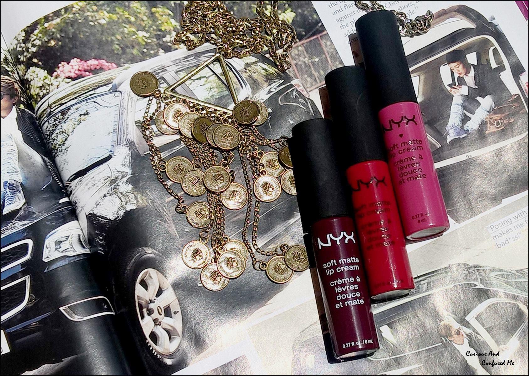 NYX Soft Matte Lip Cream : Prague, Monte carlo, Copenhagen