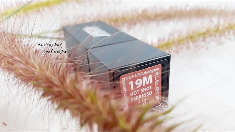 Nykaa So Matte Fall Winter Lipstick Hot Shot Espresso 19M: Review,swatch, LOTD