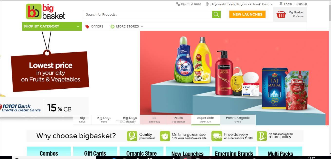 Bigbasket online store review !