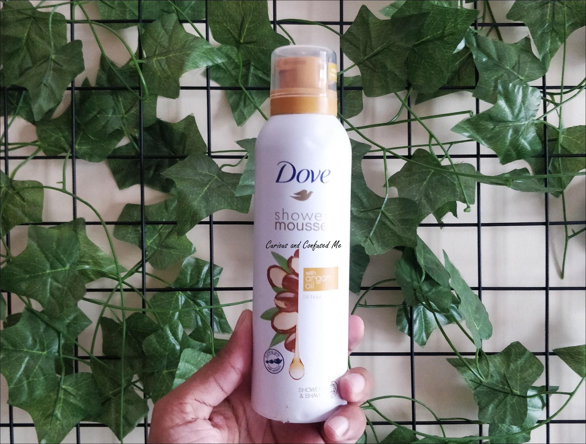 Dove Shower Mousse with Argan Oil